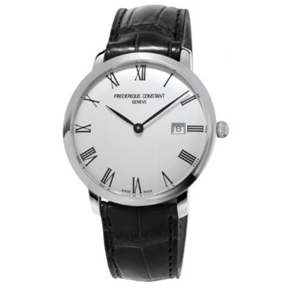 Picture of Frederique Constant Slimline Auto Watch w/ Black Leather Strap