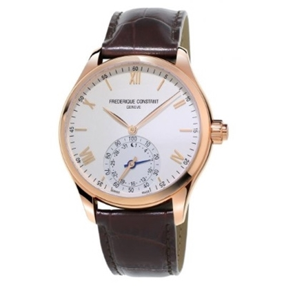 Picture of Frederique Constant Rose-Tone Smartwatch with Silver Dial