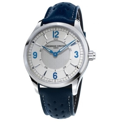 Picture of Frederique Constant Men's Horological Blue Leather Smartwatch