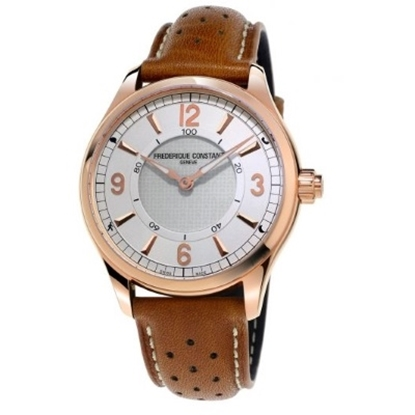 Picture of Frederique Constant Men's Horological Brown Leather Smartwatch