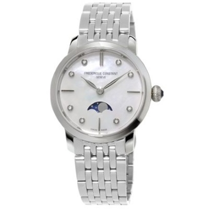 Picture of Frederique Constant Ladies' Steel Watch with Moon Diamond Dial