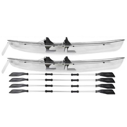 Picture of Crystal Kayak Transparent Lexan Clear Canoe/Kayak - Set of 2