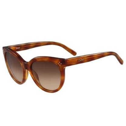 Picture of Chloe Cat-Eye Oversized Sunglasses - Blonde/Havana