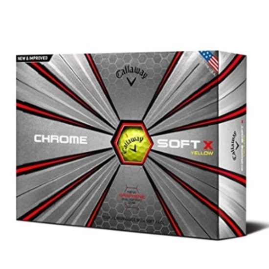 Picture of Callaway Chrome Soft X Yellow Golf Balls - Two Dozen