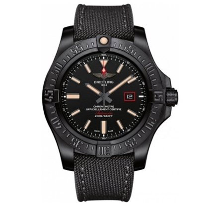 Picture of Breitling Avenger Blackbird 44 with Military Strap