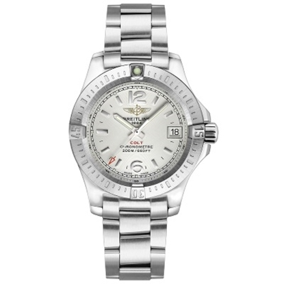 Picture of Breitling Colt Lady Stainless Steel Watch with Silver Dial