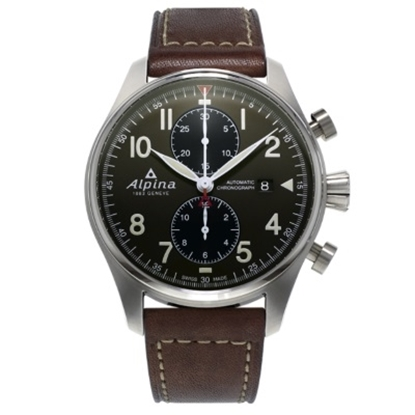 Picture of Alpina Startimer Pilot Chrono Watch with Green Dial