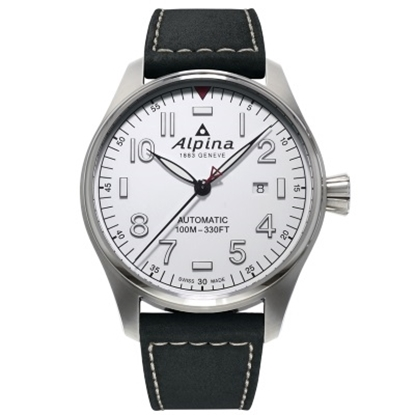 Picture of Alpina Startimer Pilot Auto Watch with White Dial