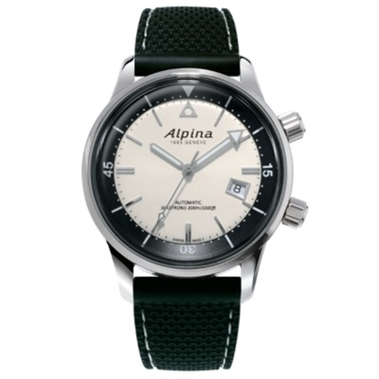 Picture of Alpina Seastrong Diver Heritage Watch with Silver Dial