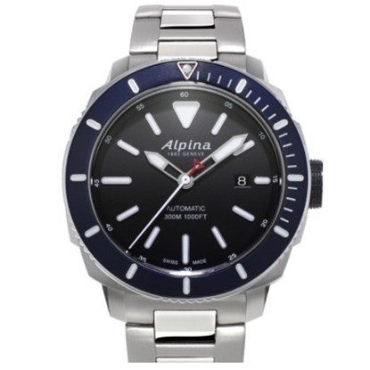 Picture of Alpina Seastrong Diver 300 Stainless Steel Watch w/ Black Dial