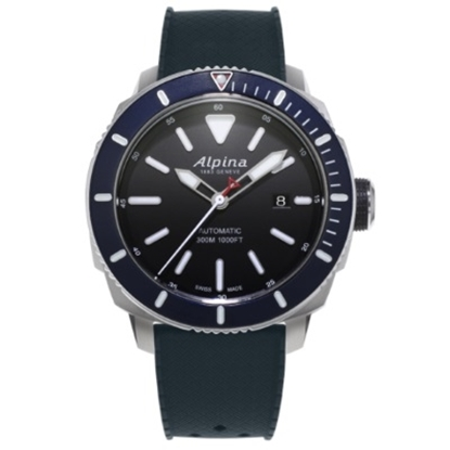 Picture of Alpina Seastrong Diver 300 Auto Dive Watch with Navy Bezel