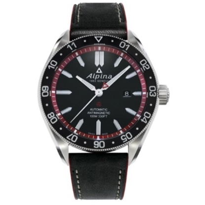 Picture of Alpina Alpiner Auto Stainless Steel Watch with Black/Red Dial