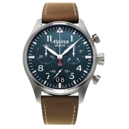 Picture of Alpina Startimer Pilot Chrono Big Date Watch with Navy Dial