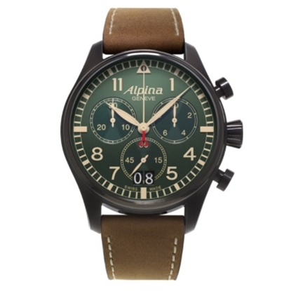 Picture of Alpina Startimer Pilot Chrono Big Date Watch with Green Dial