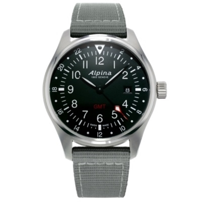 Picture of Alpina Startimer Pilot Quartz Steel Watch with Black Dial