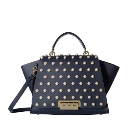 Picture of Zac Posen Eartha Iconic Soft Top Handle - Pearl Lady/Navy