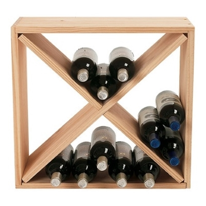 Picture of Wine Enthusiast 24-Bottle Compact Cellar Cube Rack - Natural