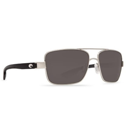 Picture of Costa North Turn Sunglasses - Palladium & Shiny Black/Gray