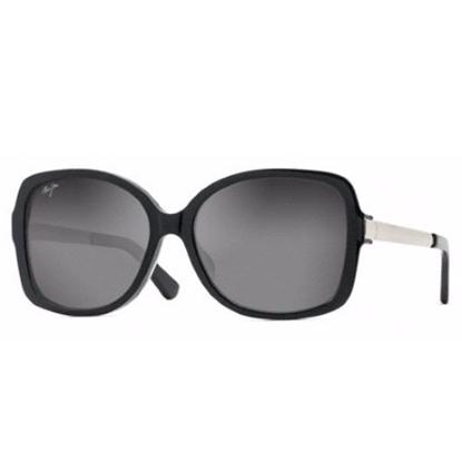 Picture of Maui Jim® Melika Sunglasses - Black Gloss/Silver Temple