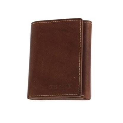 Picture of Steve Madden Antique Trifold with RFID - Brown