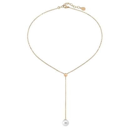 Picture of Majorica 10mm White Pearl Gold-Plated Necklace
