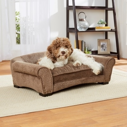 Picture of Enchanted Home Pet Harper Arch Sofa - Brown Puzzle
