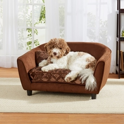 Picture of Enchanted Home Pet Astro Sofa - Brown Embossed