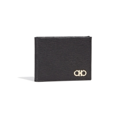 Picture of Salvatore Ferragamo Revival 6cc Bifold - Black/Gold