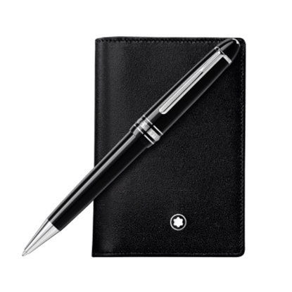 Picture of Montblanc Meisterstück Ballpoint Pen & Business Card Holder