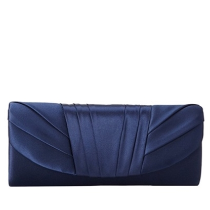 Picture of Jessica McClintock Tuxedo Flap Clutch - Navy
