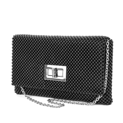Picture of Jessica McClintock Ball Mesh Flap with Turn Lock - Black