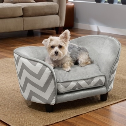 Picture of Enchanted Home Pet Snuggle Sofa - Grey Chevron