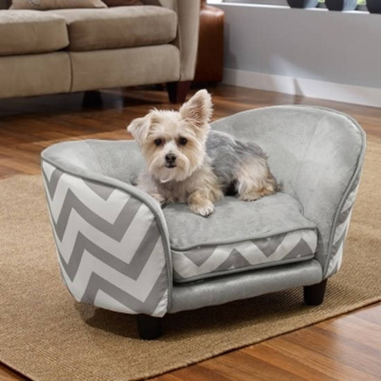 Ordinaire Picture Of Enchanted Home Pet Snuggle Sofa   Grey Chevron