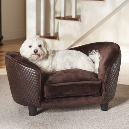 Picture of Enchanted Home Pet Ultra Plush Snuggle Bed - Brown Basket