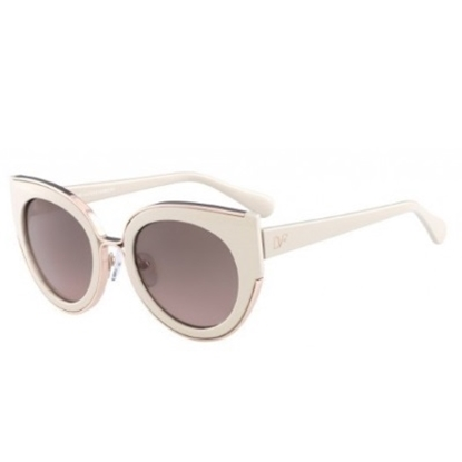 Picture of DVF Norah Retro Cat Eye Sunglasses - Rose Opal