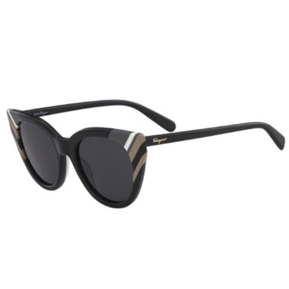 Picture of Salvatore Ferragamo Ladies' Cat Eye Sunglasses - Black