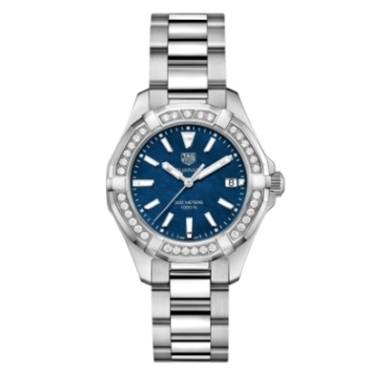 Picture of TAG Heuer Ladies' Watch with Blue MOP Dial & Diamond Bezel