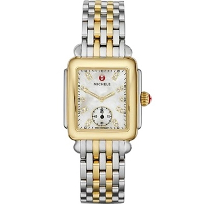 Picture of Michele Deco Mid Two-Tone Diamond Dial Watch
