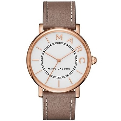 Picture of Marc Jacobs Classic Rose Gold Watch with Cement Leather Strap