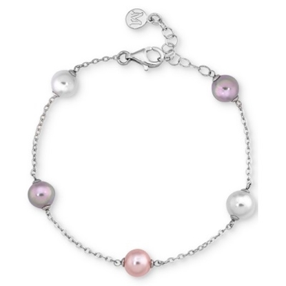 Picture of Majorica Illusion 8mm White/Nuage/Pink Pearl Bracelet