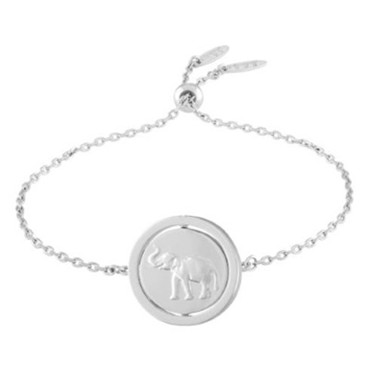 Picture of Lulu DK Strength Bracelet - Rhodium-Plated Brass
