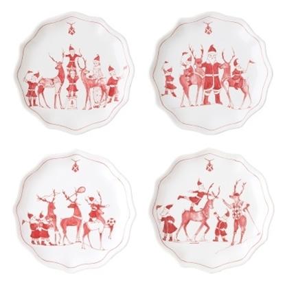 Picture of Juliska Country Estate Reindeer Games Plates - Set of 8