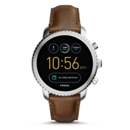 Picture of Fossil Q Explorist Gen 3 Smartwatch with Brown Leather Strap