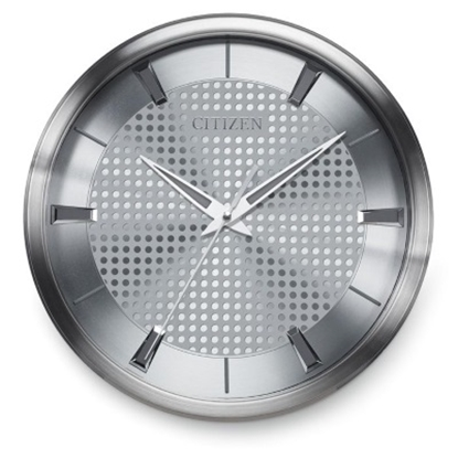 Picture of Citizen Gallery Wall Clock - Silver with Decorative Dial