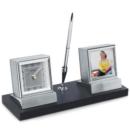 Picture of Citizen Desk Clock with Photo Frame and Pen