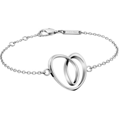 Picture of Calvin Klein Warm Silver-Tone Heart Bracelet