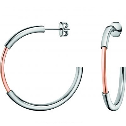Picture of Calvin Klein Disclose Two-Tone Hoop Earrings