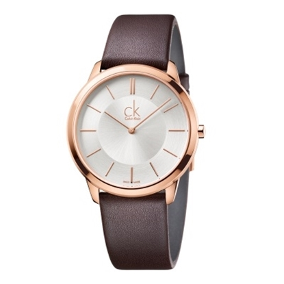 Picture of Calvin Klein Ladies' Minimal Watch with Brown Leather Strap