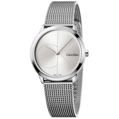 Picture of Calvin Klein Minimal Silver Dial Mesh Steel Watch