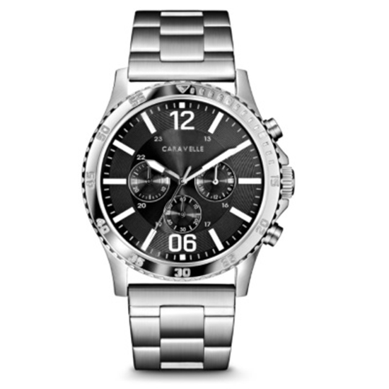 Picture of Bulova Caravelle NY Men's Stainless Steel Watch with Grey Dial